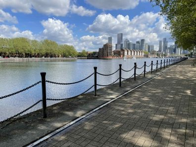 A view of Greenland dock from the quayside Greenland dock